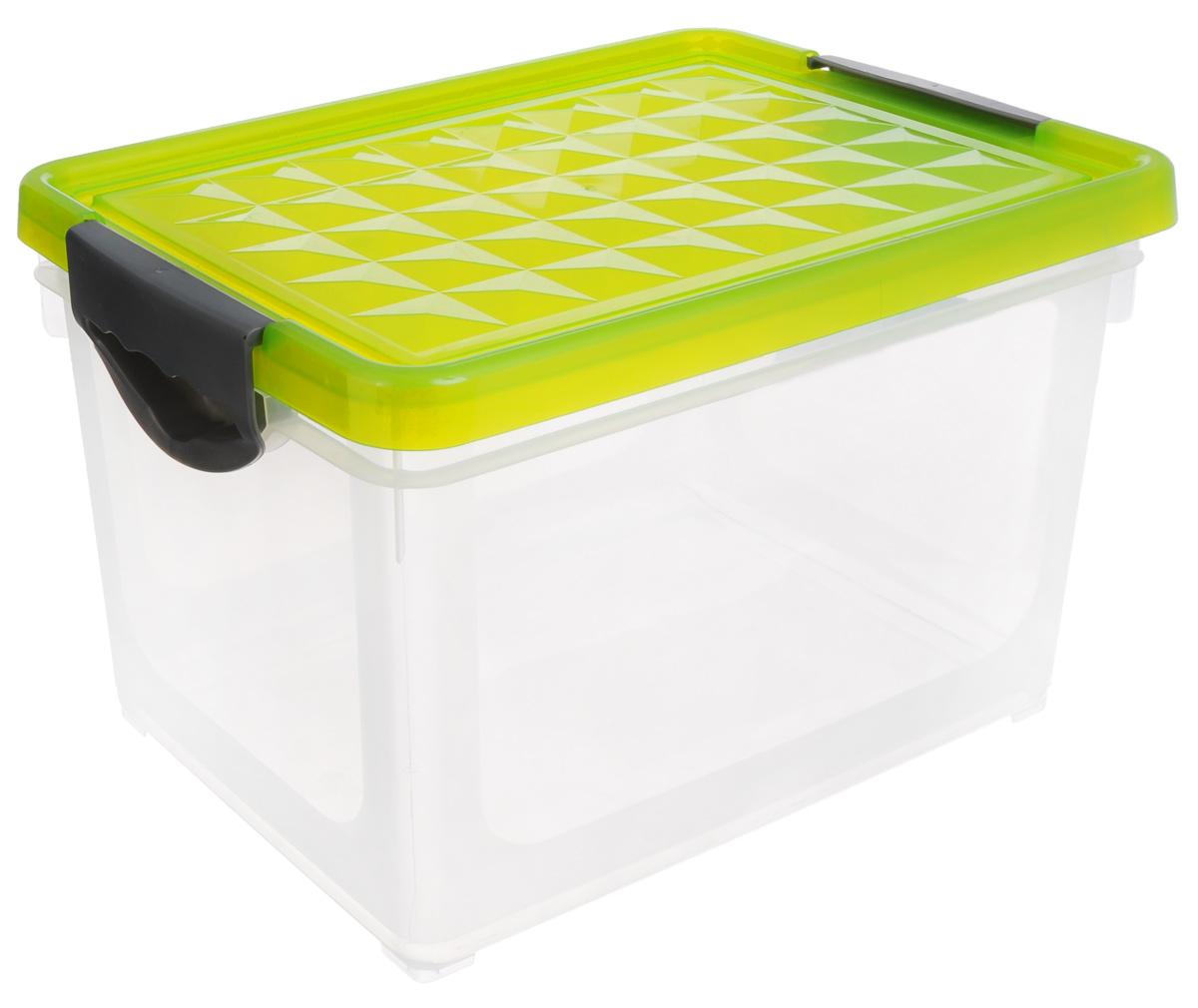Ящик для хранения BranQ Systema, цвет: прозрачный, салатовый, 19 лПЦ1002_салатовыйЯщик для хранения BranQ Systema, выполненный из полипропилена, поможет правильно организоватьпространство в доме и сэкономить место. Внем можно хранить все, что угодно: одежду, обувь, детские игрушки и многое другое. Прочныйкаркас ящика позволит хранить как легкие вещи, так и переносить собранный урожай овощей илифруктов. Ящик оснащен крышкой, закрывающейся на две защелки.