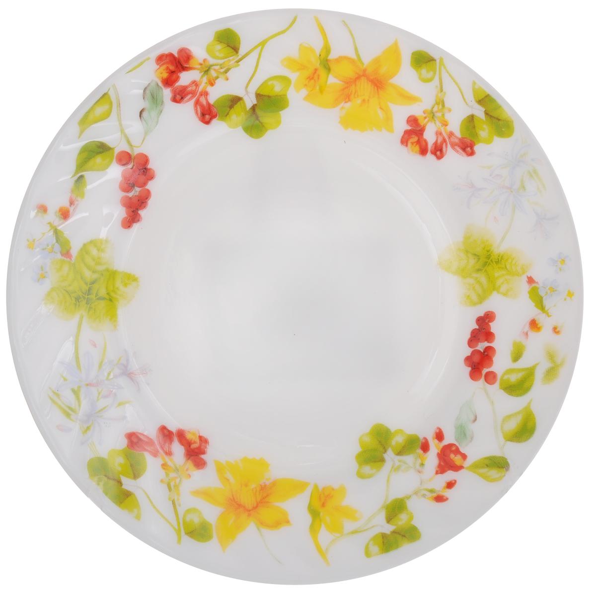 Тарелка десертная Chinbull Оттавиа, диаметр 18 смHP-70/6728Десертная тарелка Chinbull Оттавиа изготовлена из экологически чистой стеклокерамики. Изделие оформлено красочным рисунком и имеет изысканный внешний вид. Такая тарелка прекрасно подходит как для торжественных случаев, так и для повседневного использования. Идеальна для подачи десертов, пирожных, тортов и многого другого. Она прекрасно оформит стол и станет отличным дополнением к вашей коллекции кухонной посуды.Можно использовать в посудомоечной машине и СВЧ.Диаметр (по верхнему краю): 18 см.Высота стенки: 1,7 см.