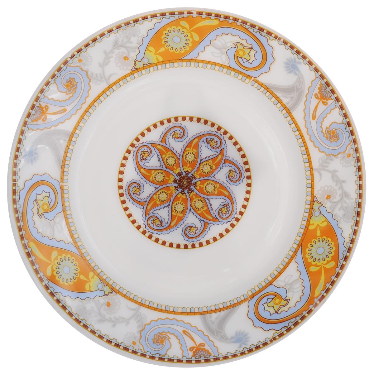 Тарелка десертная Chinbull Ориент, диаметр 17,5 смHP-70/6721Десертная тарелка Chinbull Ориент изготовлена из экологически чистой стеклокерамики. Изделие оформленоцветочными узорами и имеет изысканный внешний вид.Такая тарелка прекрасно подходит как для торжественных случаев, так и для повседневного использования.Идеальна для подачи десертов, пирожных, тортов и многого другого. Она прекрасно оформит стол и станетотличным дополнением к вашей коллекции кухонной посуды. Можно использовать в посудомоечной машине и СВЧ. Диаметр (по верхнему краю): 17,5 см. Высота стенки: 1,7 см.