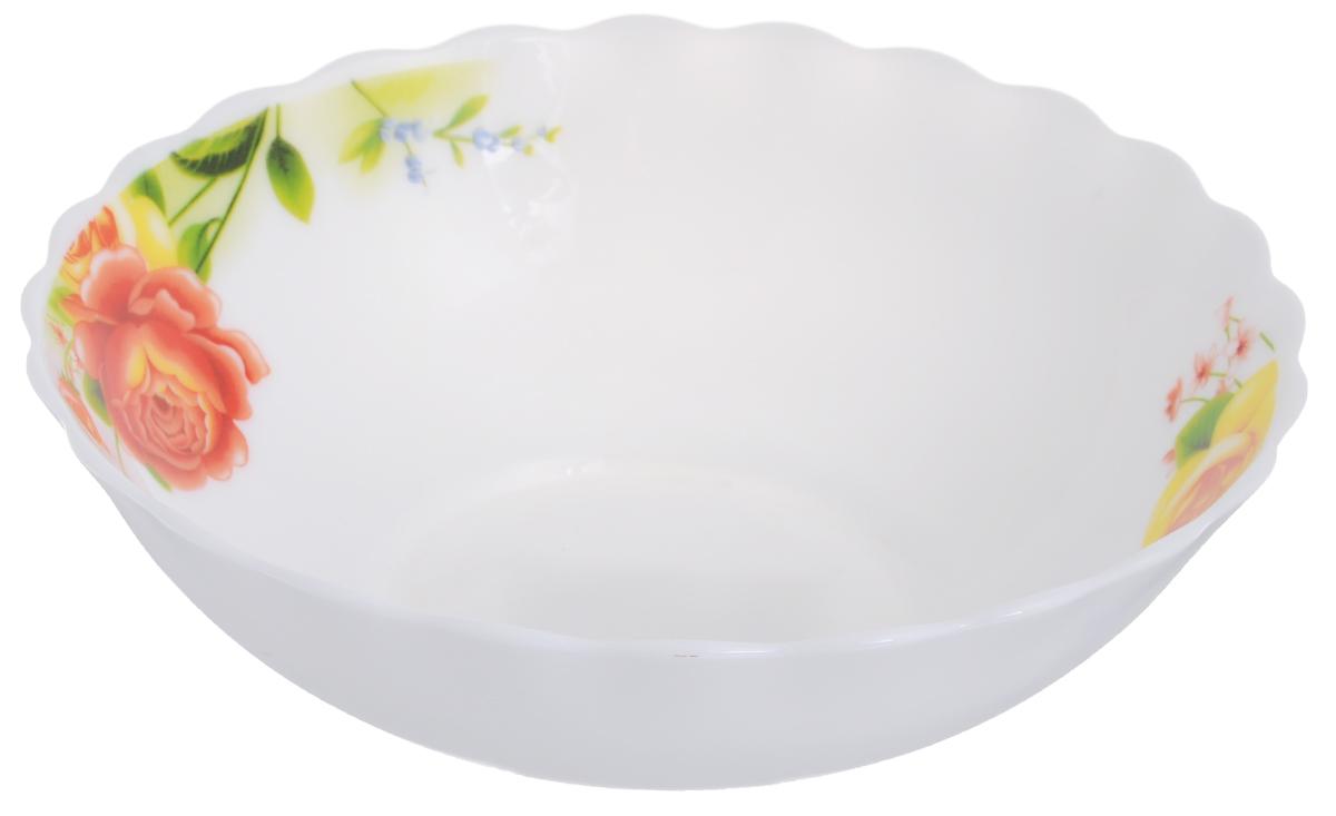 Салатник Chinbull Алессио, диаметр 22,5 смHW-90/6665Салатник Chinbull Алессио выполнен из высококачественной стеклокерамики и декорирован ярким изображением цветов. Салатник сочетает в себе изысканный дизайн с максимальной функциональностью. Он прекрасно впишется в интерьер вашей кухни и станет достойным дополнением к кухонному инвентарю. Салатник Chinbull Алессио не только украсит ваш кухонный стол и подчеркнет прекрасный вкус хозяйки, но и станет отличным подарком.Можно использовать в посудомоечной машине и СВЧ.Диаметр (по верхнему краю): 22,5 см.Высота стенки: 7,2 см.