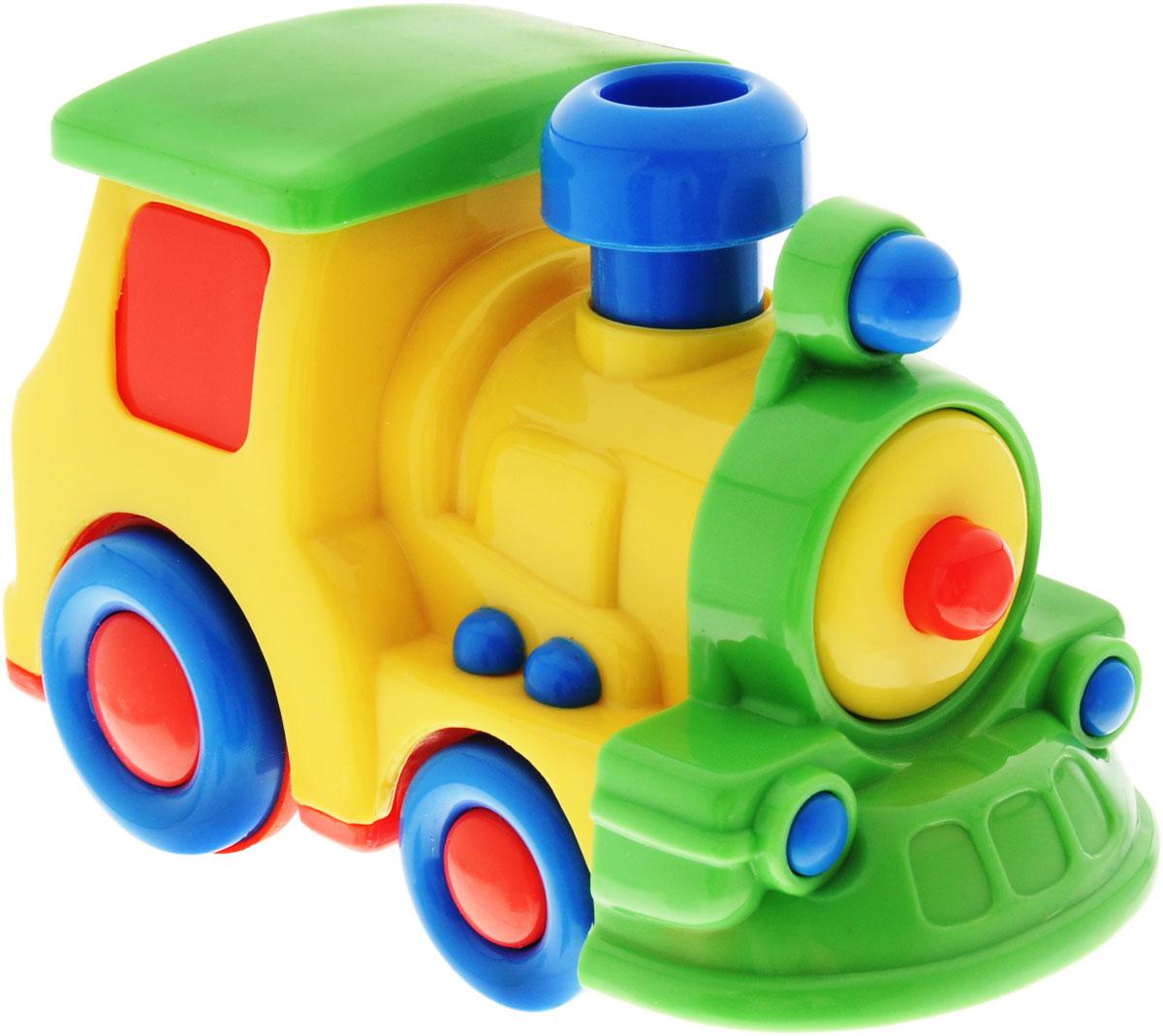 Simba Паровоз инерционный цвет желтый simba машинка игрушка лев