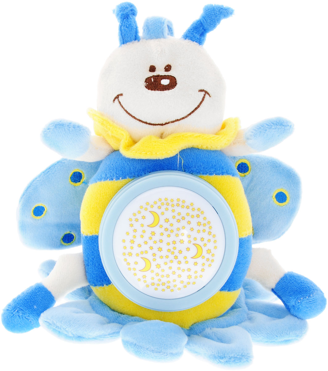 Simba Музыкальная игрушка-подвеска Плюшевые насекомые цвет голубой simba музыкальная гитара на батарейках свет звук 43 5 см 4010529