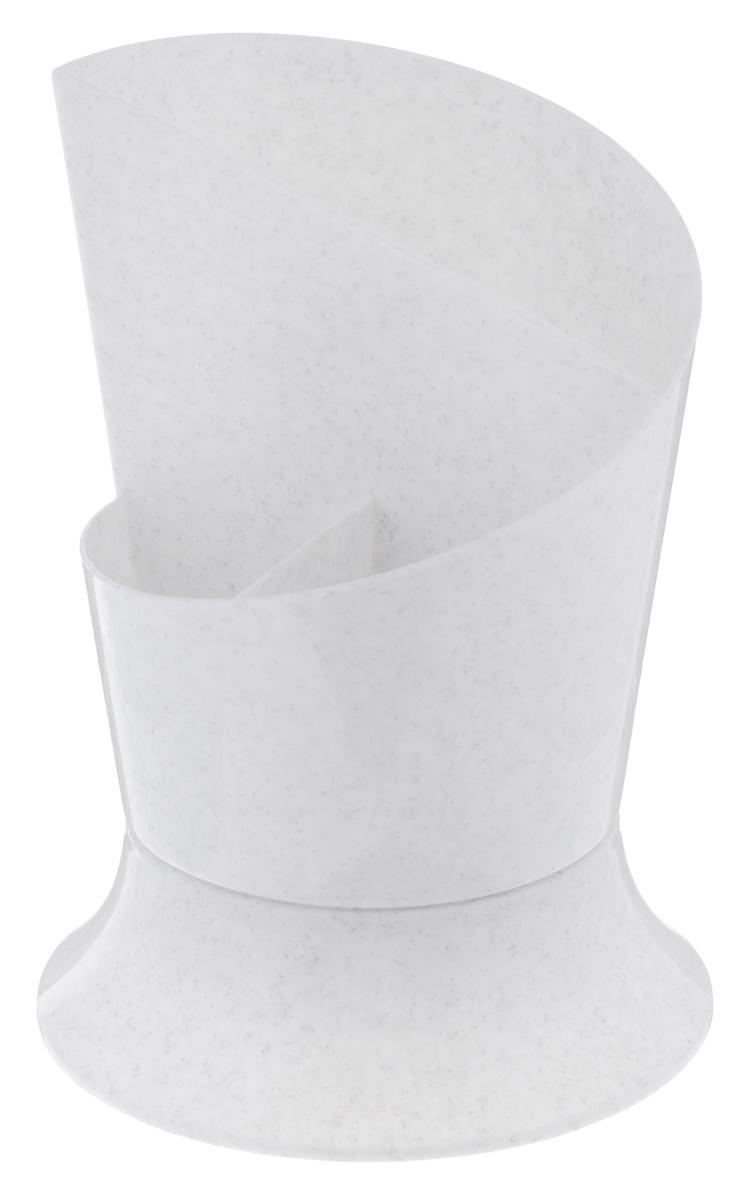 Сушилка для столовых приборов Idea Факел, цвет: мраморный посудосушки vetta сушилка для столовых приборов с поддоном металл пластик d13х11см 3 цвета ае 419