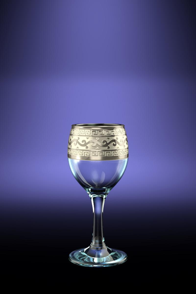 Набор 6 рюмок с рисунком Версаче 60мл набор рюмок crystalex джулия б декора 6шт 60мл стекло б декора