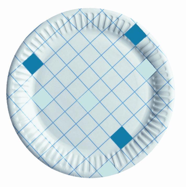 Набор одноразовых тарелок Huhtamaki Caterline, цвет: белый, синий, диаметр 15 см, 100 штПОС08342Набор Huhtamaki Caterline состоит из 100 круглых тарелок, выполненных из плотной бумаги и предназначенных для одноразового использования. Изделия декорированы оригинальным узором. Одноразовые тарелки будут незаменимы при поездках на природу, пикниках и других мероприятиях. Они не займут много места, легки и самое главное - после использования их не надо мыть.Диаметр тарелки (по верхнему краю): 15 см.