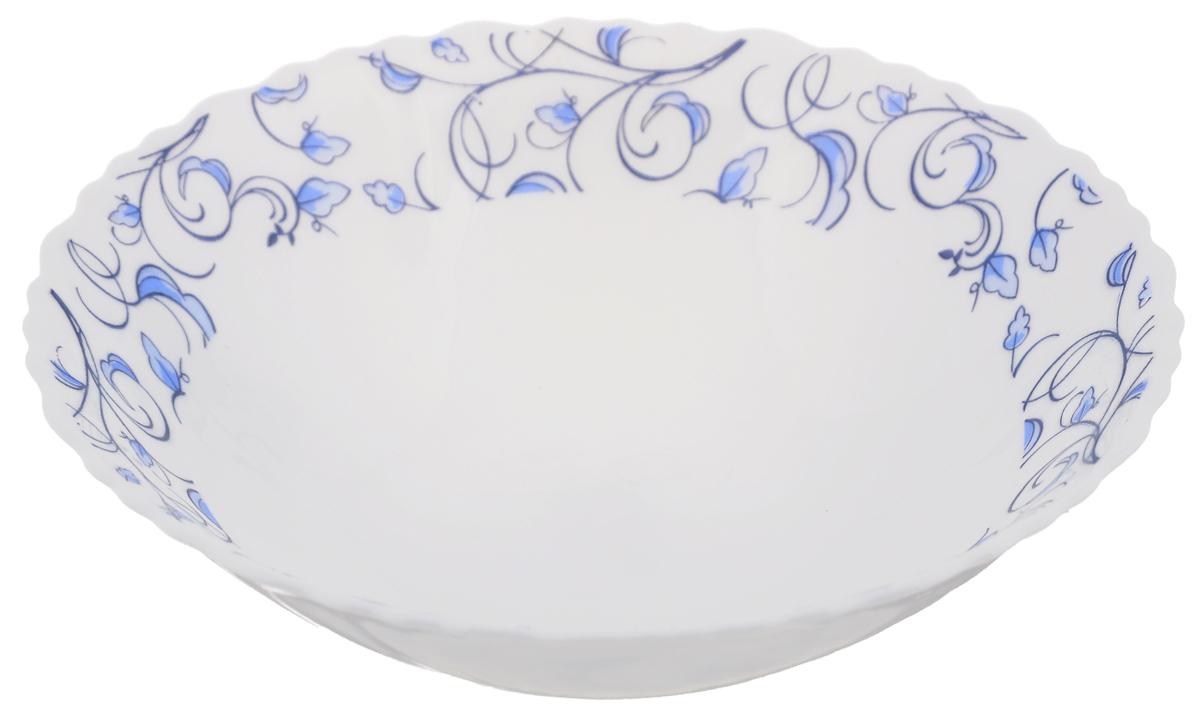 Тарелка суповая Нормандия, диаметр 19 смOLHDW-75/310Суповая тарелка Chinbull Нормандия, выполненная из высококачественной стеклокерамики, декорирована изображением листьев. Изящный дизайн придется по вкусу и ценителям классики, и тем, кто предпочитает утонченность. Тарелка Chinbull Нормандия идеально подойдет для сервировки стола и станет отличным подарком к любому празднику.Диаметр (по верхнему краю): 19 см.Высота стенки: 5,5 см.