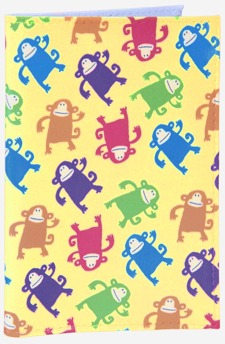 Обложка для паспорта Смешные обезьянки. OZAM386ПВХ (поливинилхлорид)Яркая обложка для паспорта Mitya Veselkov Смешные обезьянки выполнена из поливинилхлорида и оформлена принтом с изображением разноцветных обезьянок.Изделие раскладывается пополам. Внутри расположены два накладных кармана.Обложка для паспорта поможет сохранить внешний вид ваших документов и защитить их от повреждений, а также станет стильным аксессуаром, который подчеркнет ваш образ.