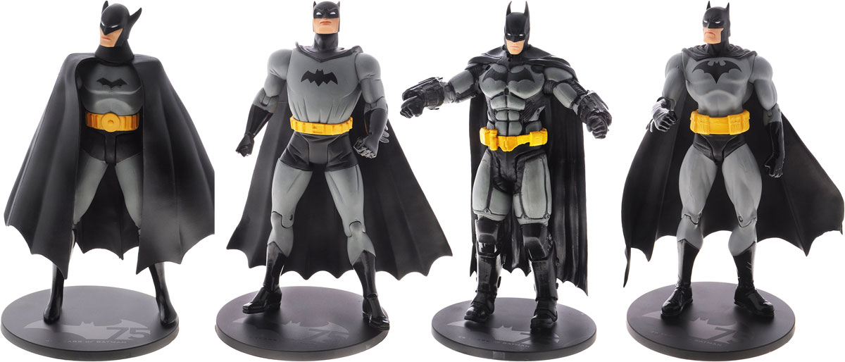 Batman. Набор фигурок Batman 75th Anniversary 1 (4 шт)