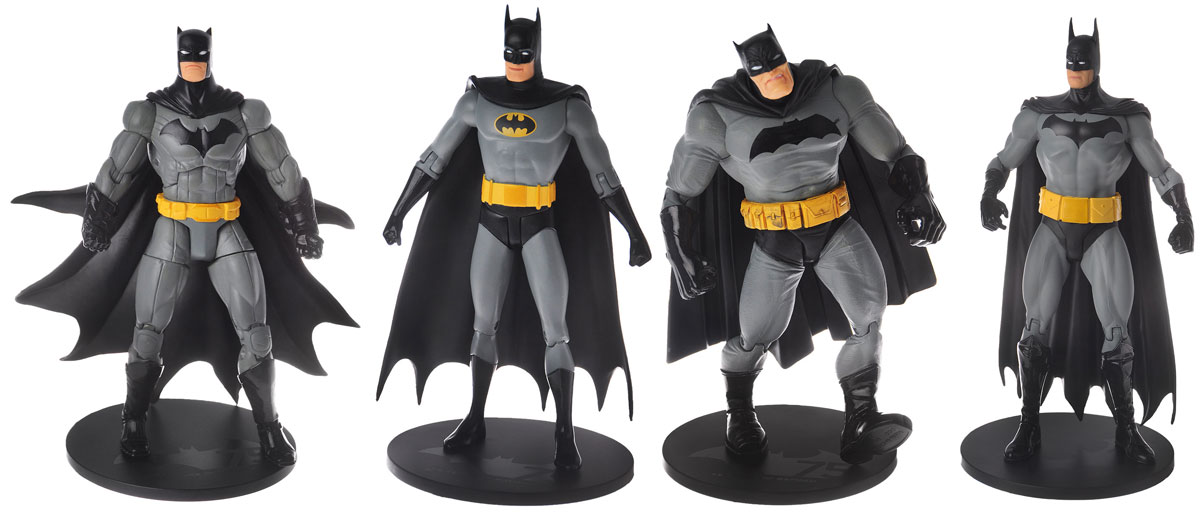 Batman. Набор фигурок Batman 75th Anniversary 2 (4 шт) single sale batman series dc super hero justice league building block bricks batgirl toys for children rubber ducky batman