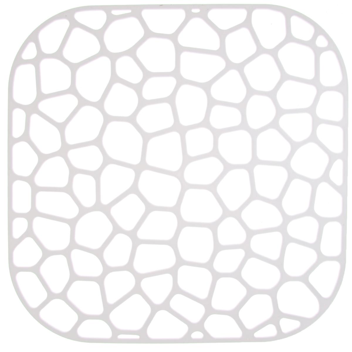 Коврик для раковины Idea, цвет: белый, 30 х 30 смМ 1151_белыйКоврик для раковины Idea изготовлен из полипропилена (пластик). Изделие одновременно выполняет несколько функций: украшает, предотвращает появление на раковине царапин и сколов, защищает посуду от повреждений при падении в раковину, удерживает мусор, попадание которого в слив приводит к засорам. Изделие также обладает противоскользящим эффектом и может использоваться в качестве подставки для сушки чистой посуды. Легко очищается от грязи и жира.