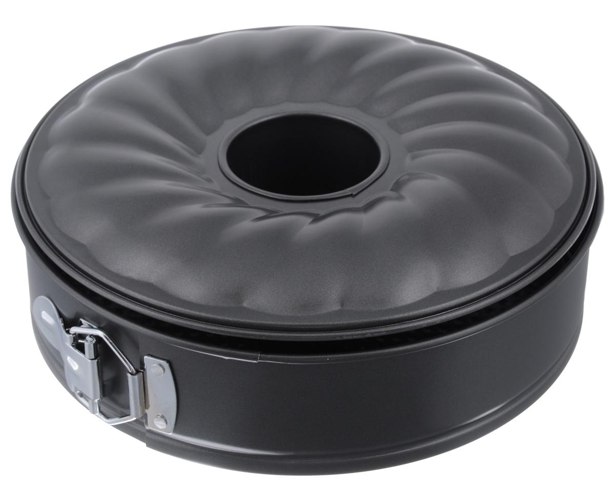 Форма для выпечки Appetite, разъемная, с антипригарным покрытием, 2 дна, 26 см х 26 см х 8 смSL4012Разъемная форма Appetite выполнена из углеродистой стали. Антипригарное покрытие обеспечивает моментальное снятие выпечки с противня, а также его легкую очистку после использования. Экологически безопасное покрытие не содержит перфлюоро-октановой кислоты. Высокая теплопроводность способствует быстрому приготовлению пищи. Изделие легко собирается и разбирается при помощи специального зажима. Двойное рельефное дно обеспечивает легкое вынимание из формы.Форма выдерживает температуру до 250°C. Подходит для использования в духовке. Можно мыть в посудомоечной машине. Использовать только пластиковые, деревянные или силиконовые аксессуары.С такой формой вы всегда сможете порадовать своих близких оригинальной выпечкой.Диаметр формы: 26 см.Высота стенки: 8 см.