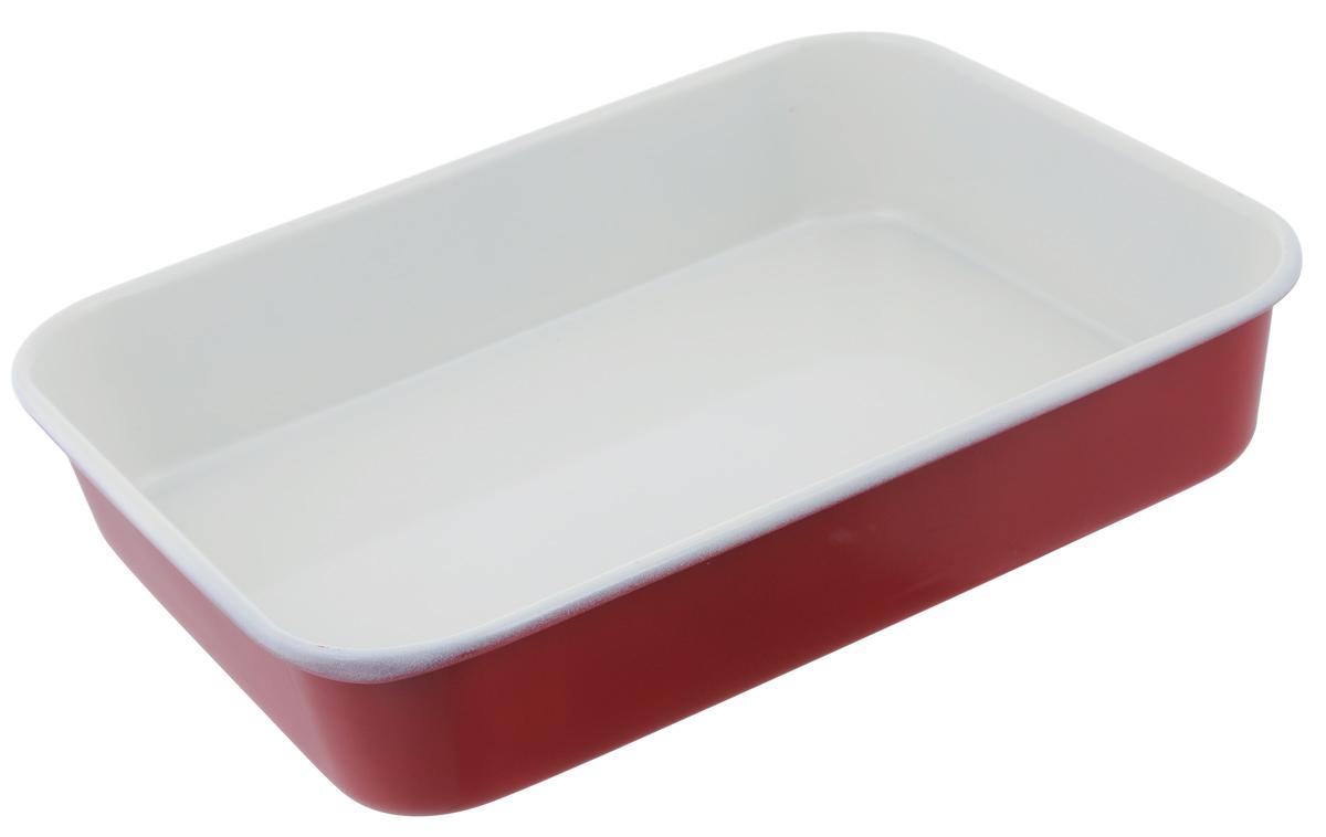 Противень Mayer & Boch, с керамическим покрытием, прямоугольный, цвет: красный, 34 х 26 х 6,5 см противень 290х200х25 мм discovery 916200