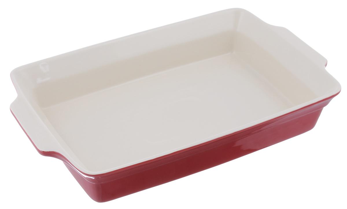 Противень Mayer & Boch, прямоугольный, цвет: красный, 38,2 см х 23 см21813_красныйПротивень Mayer & Boch изготовлен из высококачественной керамики. Керамика не содержит вредных примесей ПФОК, что способствует здоровому и экологичному приготовлению пищи. Противень - незаменимый атрибут для приготовления запеканок, всевозможных блюд из мяса и овощей, а также выпечки из теста и изысканных кондитерских блюд. Изделие оснащено двумя удобными ручками. Подходит для газовых и электрических плит. Можно использовать в микроволновой печи. Можно мыть в посудомоечной машине.Размер противня (с учетом ручек): 38,2 см х 23 см.Внутренний размер противня (без учета ручек): 34 см х 23 см.Высота стенок противня: 6,5 см.