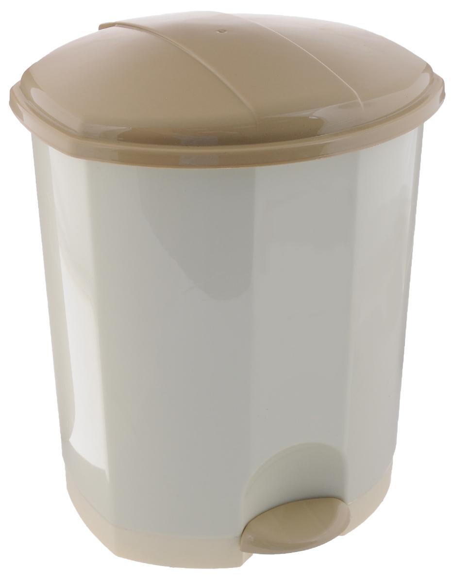Контейнер для мусора Эльфпласт, с педалью, цвет: кремовый, бежевый, 7 л110_кремовый, бежевыйМусорный контейнер Эльфпласт, выполненный из прочного пластика, не боится ударов и долгих летиспользования. Изделие оснащено педалью, с помощью которой можно открытькрышку. Закрывается крышка практически бесшумно, плотно прилегает, предотвращаяраспространение запаха. Внутри пластиковая емкость для мусора, которую при необходимости можно достать из контейнера. Интересный дизайн разнообразит интерьер кухни и сделает его более оригинальным.