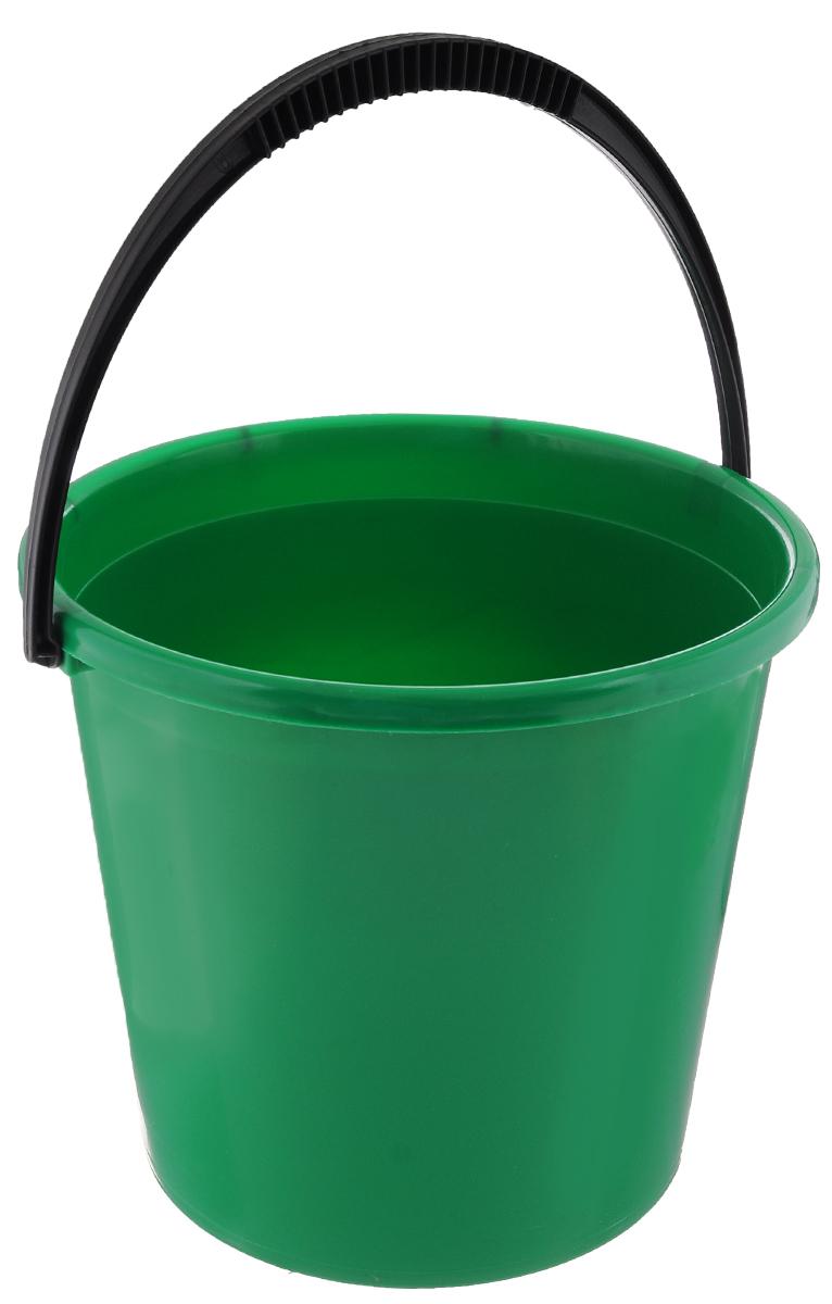 Ведро Альтернатива, цвет: зеленый, 7 лМ1079_зеленыйВедро Альтернатива, изготовленное из высококачественного цветного пластика, оснащено удобной ручкой для переноски. Оно легче железного и не подвергается коррозии. Такое ведро станет незаменимым помощником в хозяйстве. Диаметр ведра (по верхнему краю): 25 см.Высота: 22 см.