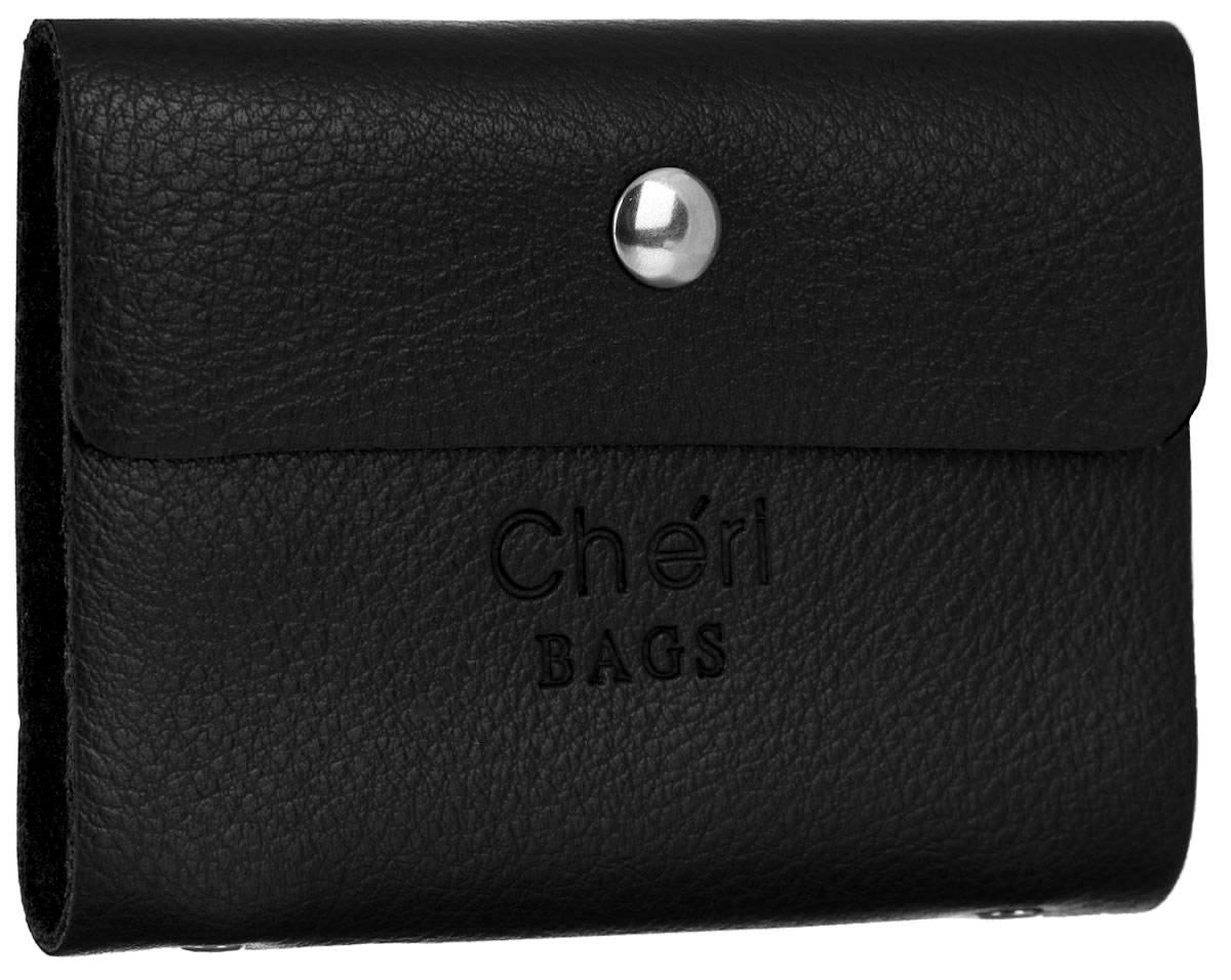 Визитница женская Cheribags, цвет: черный. V-0488-10 подвеска брелок cheribags цвет бежевый слоник 12