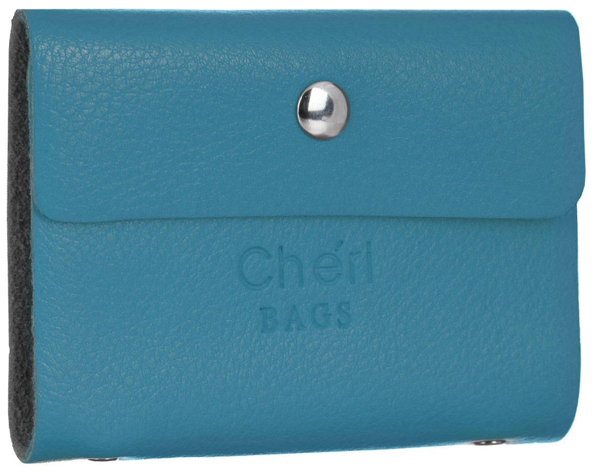 Визитница женская Cheribags, цвет: голубой. V-0488-15 футляр для ручки жен cheribags цвет бордовый 04к 1018 33