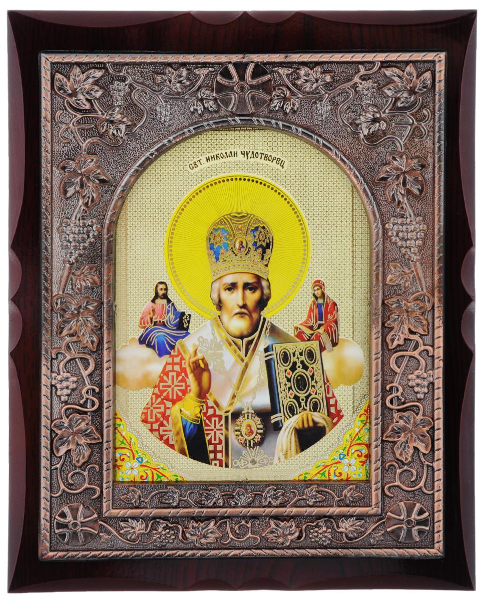 Икона в рамке Sima-land Святой Николай Чудотворец, 20 х 25 см икона галерея благолепия икона святой николай чудотворец 3 юзл 09