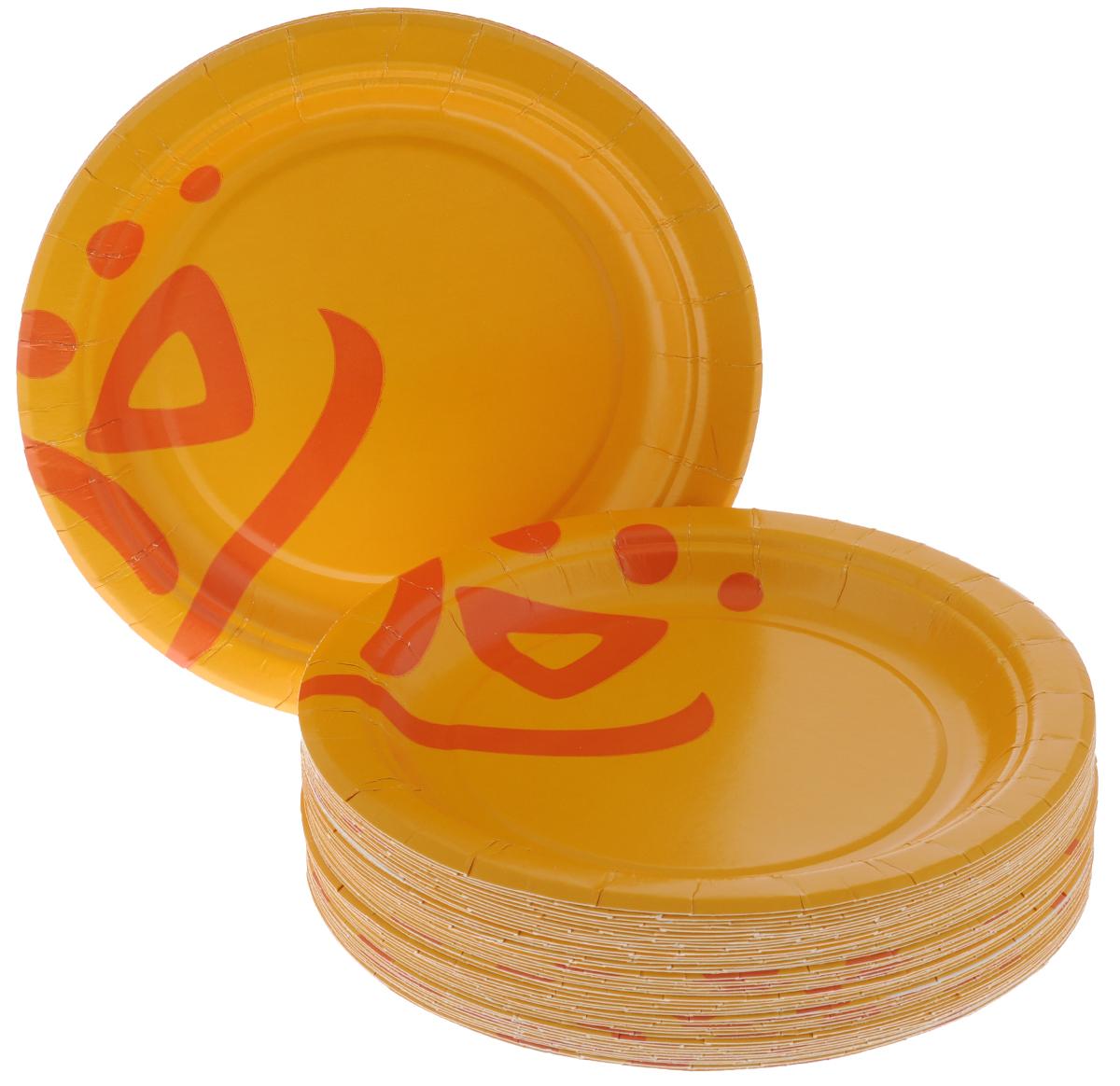 Набор одноразовых тарелок Huhtamaki Whizz, диаметр 18 см, 50 шт набор одноразовых тарелок huhtamaki whizz цвет оранжевый диаметр 23 см 50 шт