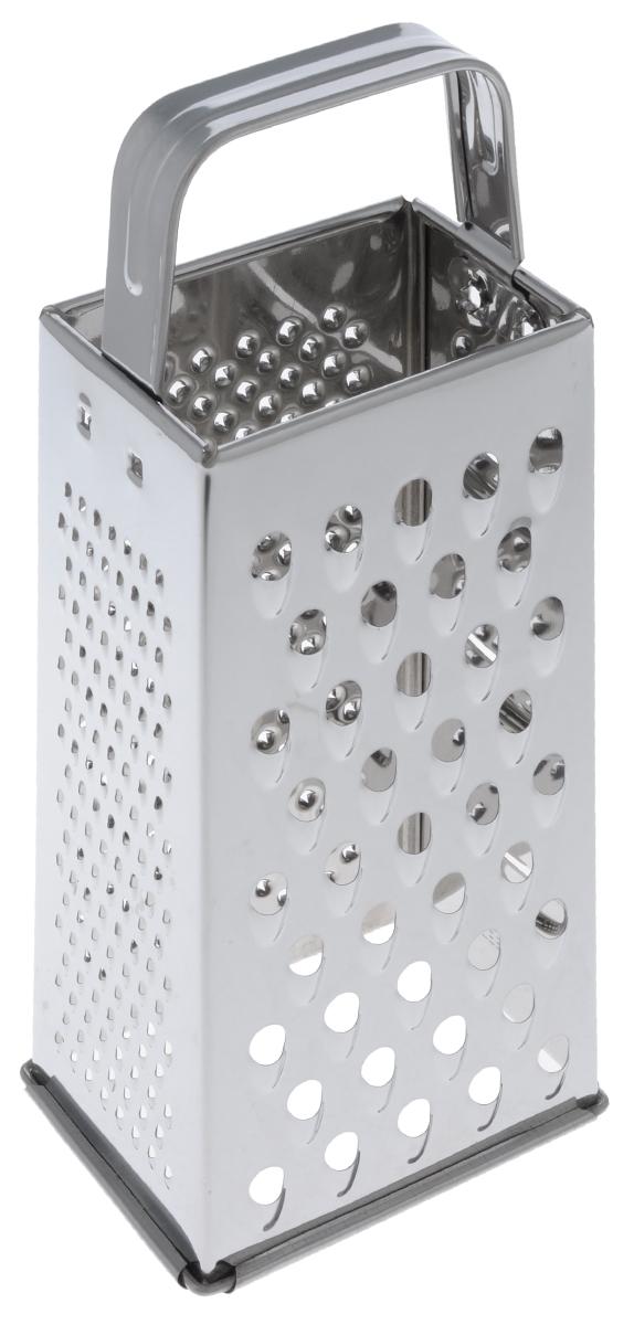 Терка четырехгранная МФК-профит, высота 24 смMFK01076Четырехгранная терка МФК-профит, выполненная из высококачественной нержавеющей стали с зеркальной полировкой, станет незаменимым атрибутом приготовления пищи. На одном изделие представлены четыре вида терок - крупная, мелкая, фигурная и нарезка ломтиками. Современный стильный дизайн позволит терке занять достойное место на вашей кухне.Каждая хозяйка оценит все преимущества этой терки. Можно мыть в посудомоечной машине.Высота терки: 24 см.Размер основания: 10 см х 7,5 см.