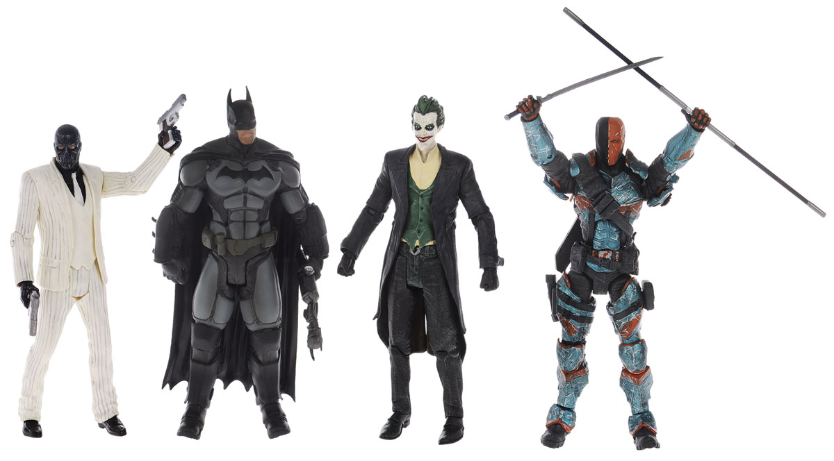Batman Arkham Origins. Набор фигурок (4 шт) neca dc comics batman arkham origins super hero 1 4 scale action figure