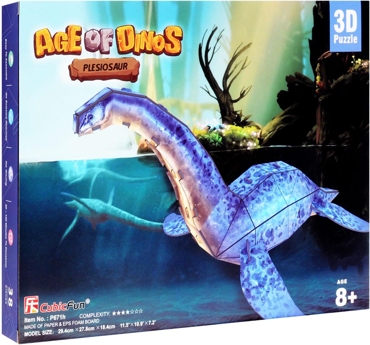 CubicFun 3D пазл Эра Динозавров Плезиозавр