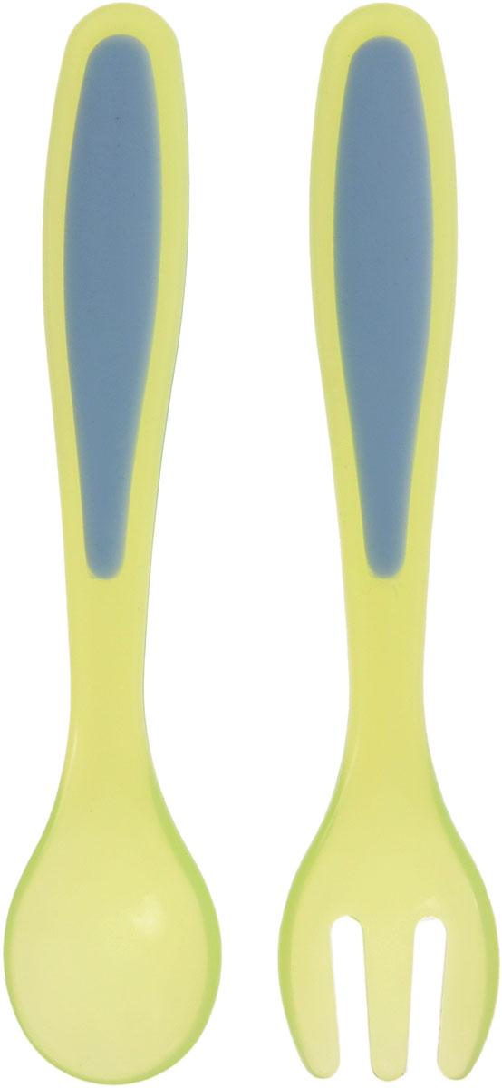 Bibi Набор детских столовых приборов Sensoline 2 предмета bibi happiness natural силикон голубая 0 2 мес