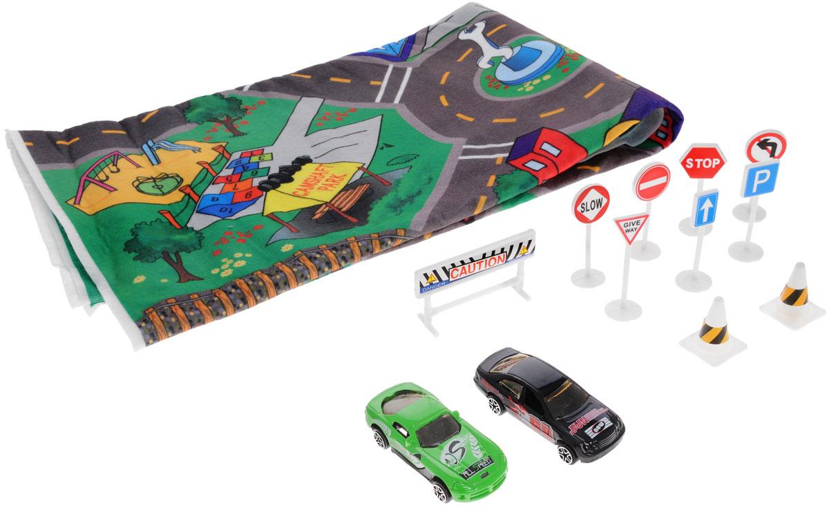 Big Motors Игровой набор Город цвет машин черный зеленый
