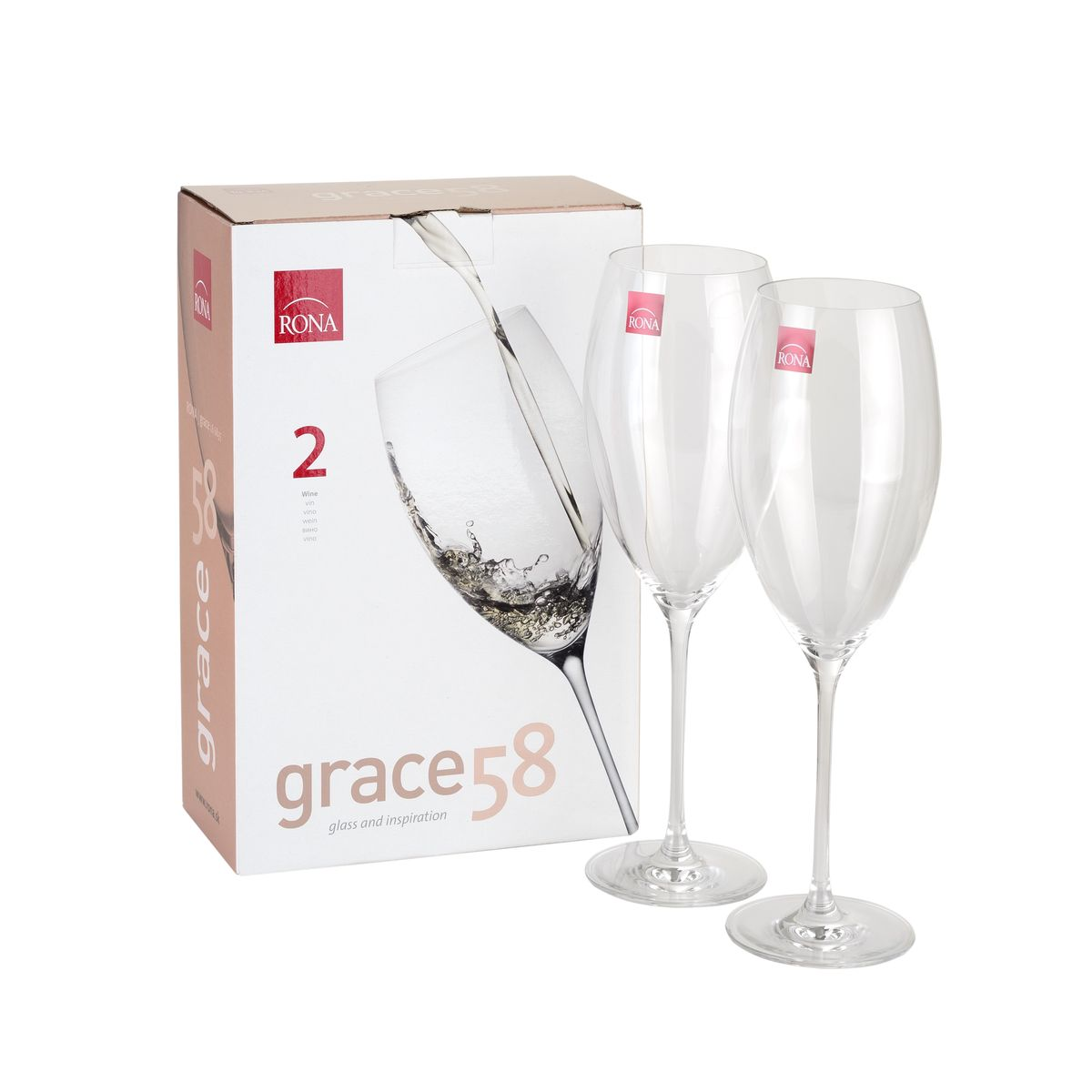 Бокал для вина упаковка 2 шт.Grace 580 мл. 6835/0/5806835/0/580Бокал для вина упаковка 2 шт. GRACE 580 мл.6835/0/580