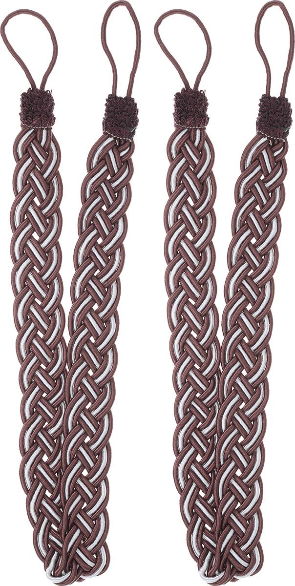 Подхват для штор Goodliving Коса, цвет: бордовый, серебристый, длина 65 см, 2 шт142669_752/502Подхват для штор Goodliving Коса представляет собой плотный узор, плетеный в виде косы. Изделие оснащено петлями для фиксации штор, гардин и портьер. Подхват - это основной вид фурнитуры в декоре штор, сочетающий в себе не только декоративную функцию, но и практическую - регулировать поток света. Такой аксессуар способен украсить любую комнату.Длина подхвата (с учетом петель): 65 см. Ширина подхвата: 2,5 см.