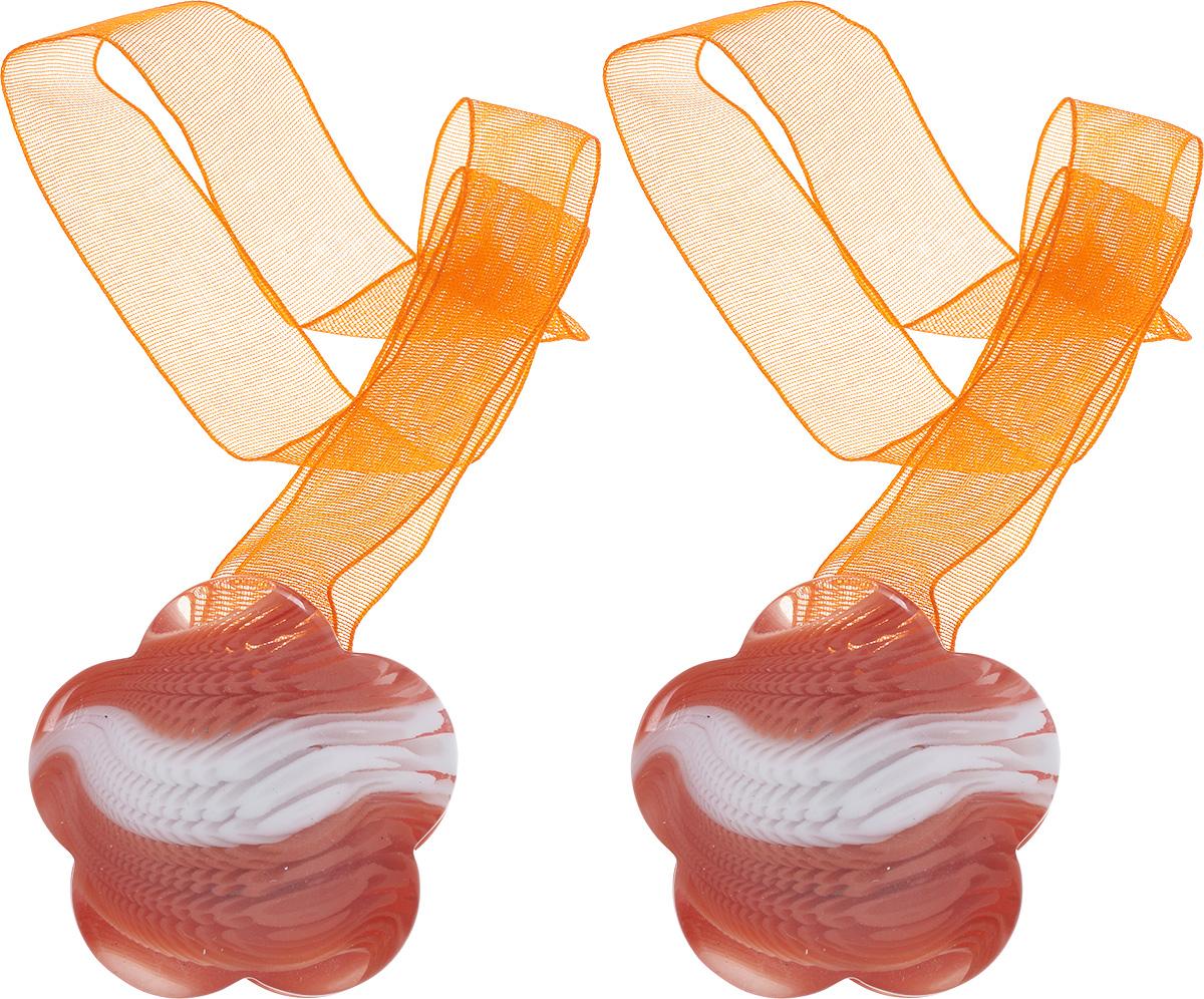 Подхват для штор Wehome, на магнитах, цвет: белый, оранжевый, 2 шт7711304_оранжевыйПодхват для штор Wehome, выполненный из пластика, можно использовать как держатель для штор или для формирования декоративных складок на ткани. С его помощью можно зафиксировать шторы или скрепить их, придать им требуемое положение, сделать симметричные складки. Благодаря магнитам подхват легко надевается и снимается.Подхват для штор является универсальным изделием, которое превосходно подойдет для любых видов штор. Подхваты придадут шторам восхитительный, стильный внешний вид и добавят уют в интерьер помещения.Длина подхвата: 29 см.