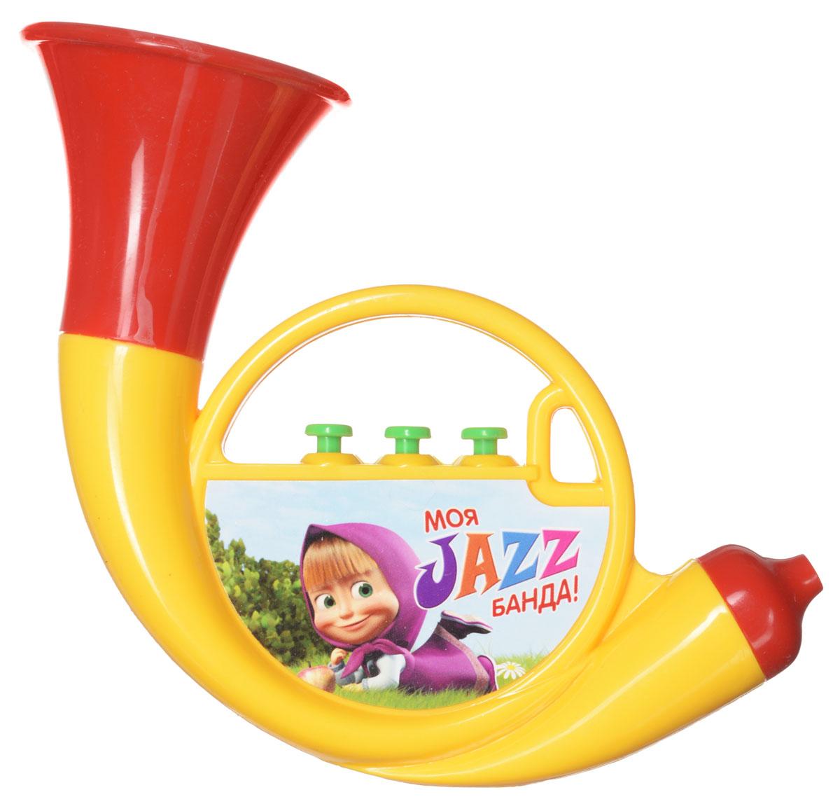 Маша и Медведь Музыкальная игрушка Труба цвет желтый