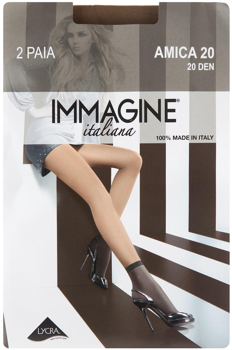 Носки женские Immagine Amica 20, цвет: Neutro (бежевый), 2 пары. Размер универсальный платье elisa immagine elisa immagine el033ewobn78