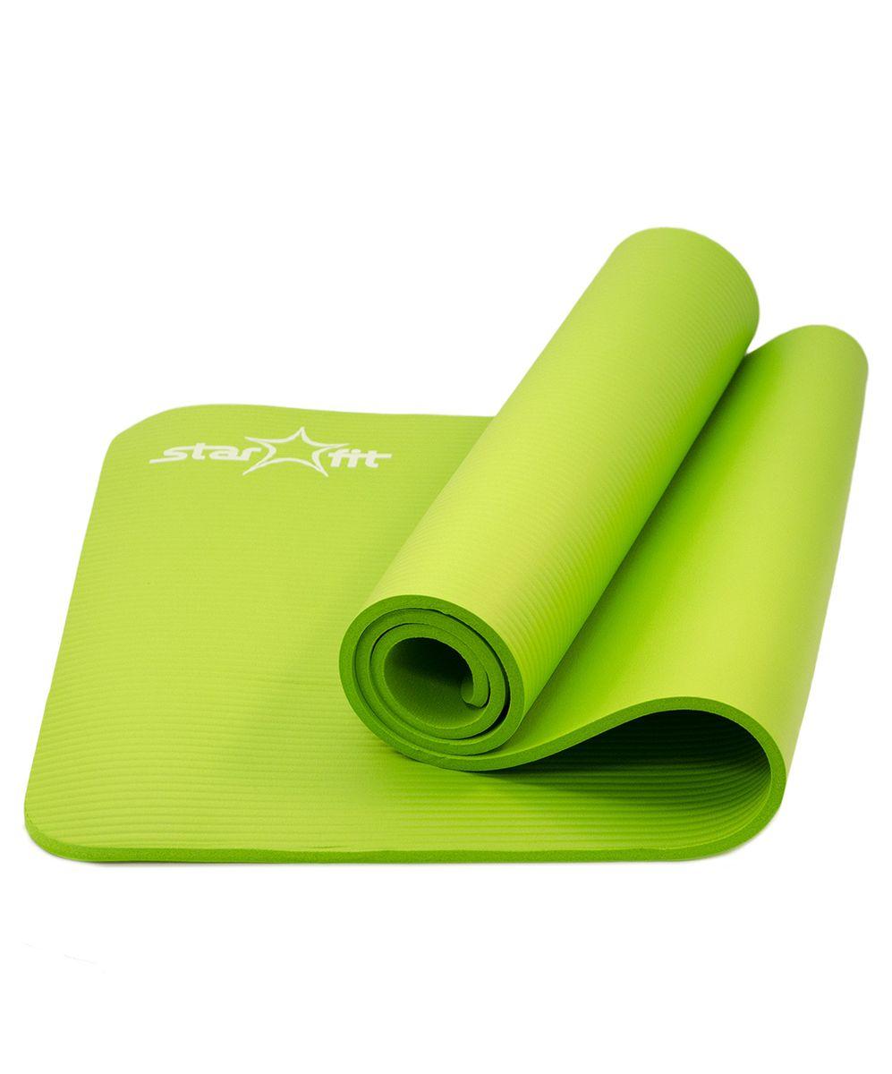 Коврик для йоги Starfit FM-301, цвет: зеленый, 183 x 58 x 1 смУТ-00007249Коврик для йоги Starfit FM-301 предназначен для занятий фитнесом и йогой. Выполнен из современного синтетического материала NBR, не вызывающего раздражения на коже. Незаменимый аксессуар для любого спортсмена как во время тренировки, так и во время пре-стретчинга и стретчинга (растяжки до и после тренировки). На коврике следует заниматься без обуви, чтобы избежать разрыва поверхности коврика. Помимо йоги может использоваться для фитнес-тренировок, выполнения упражнений по растяжке (стретчингу). Перед первым использованием новый коврик рекомендуется протереть влажной тканью с мылом.