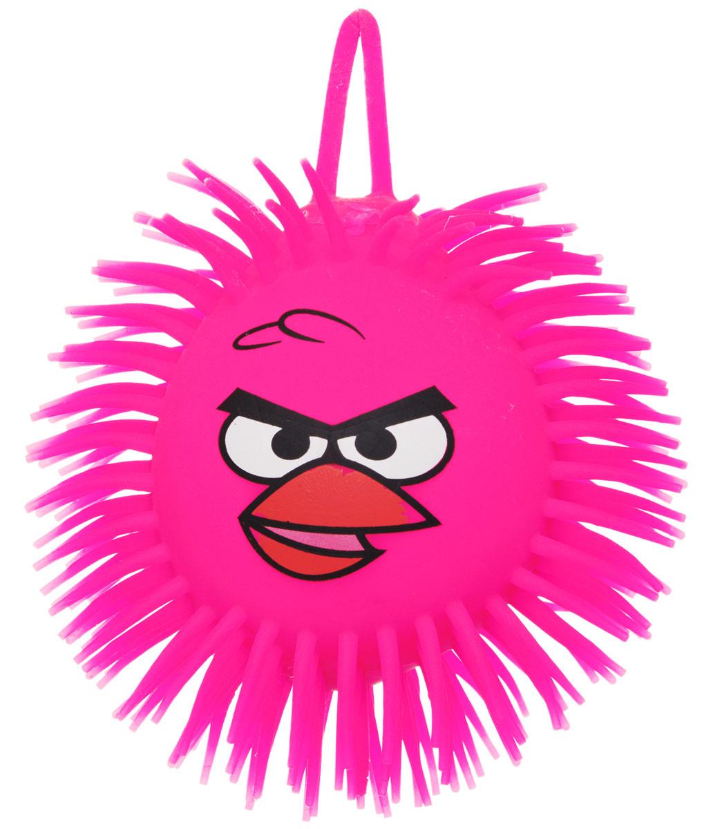 1TOY Игрушка-антистресс Ё-Ёжик Злая птичка цвет розовый диаметр 12 см злая птица ё ёжик со светомт56233