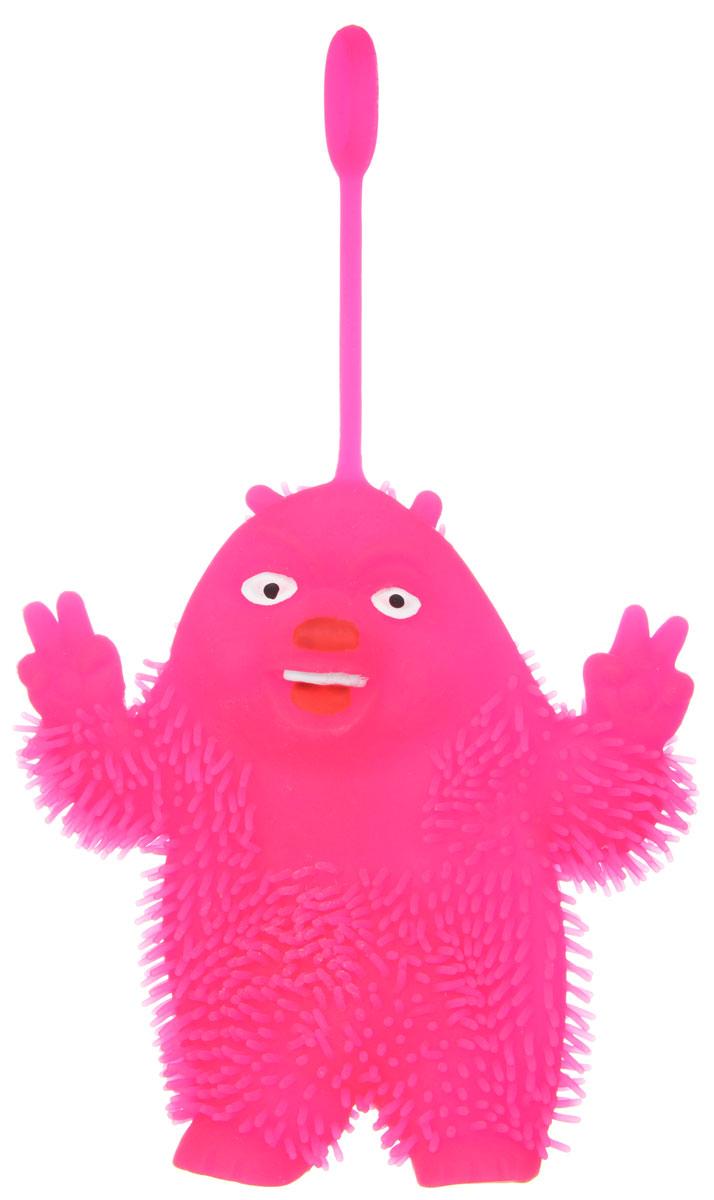 1TOY Игрушка-антистресс Ё-Ёжик Медвежонок-хиппи цвет розовый техника ё ёжик со светомт56556