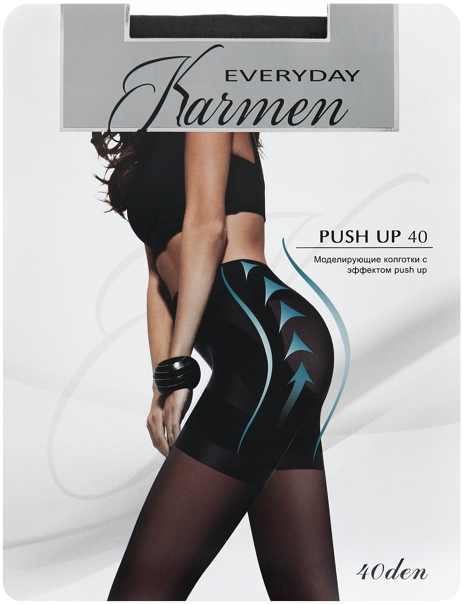 Колготки Karmen Push Up 40, цвет: Nero (черный). Размер 4 (48) backless push up pasties bra