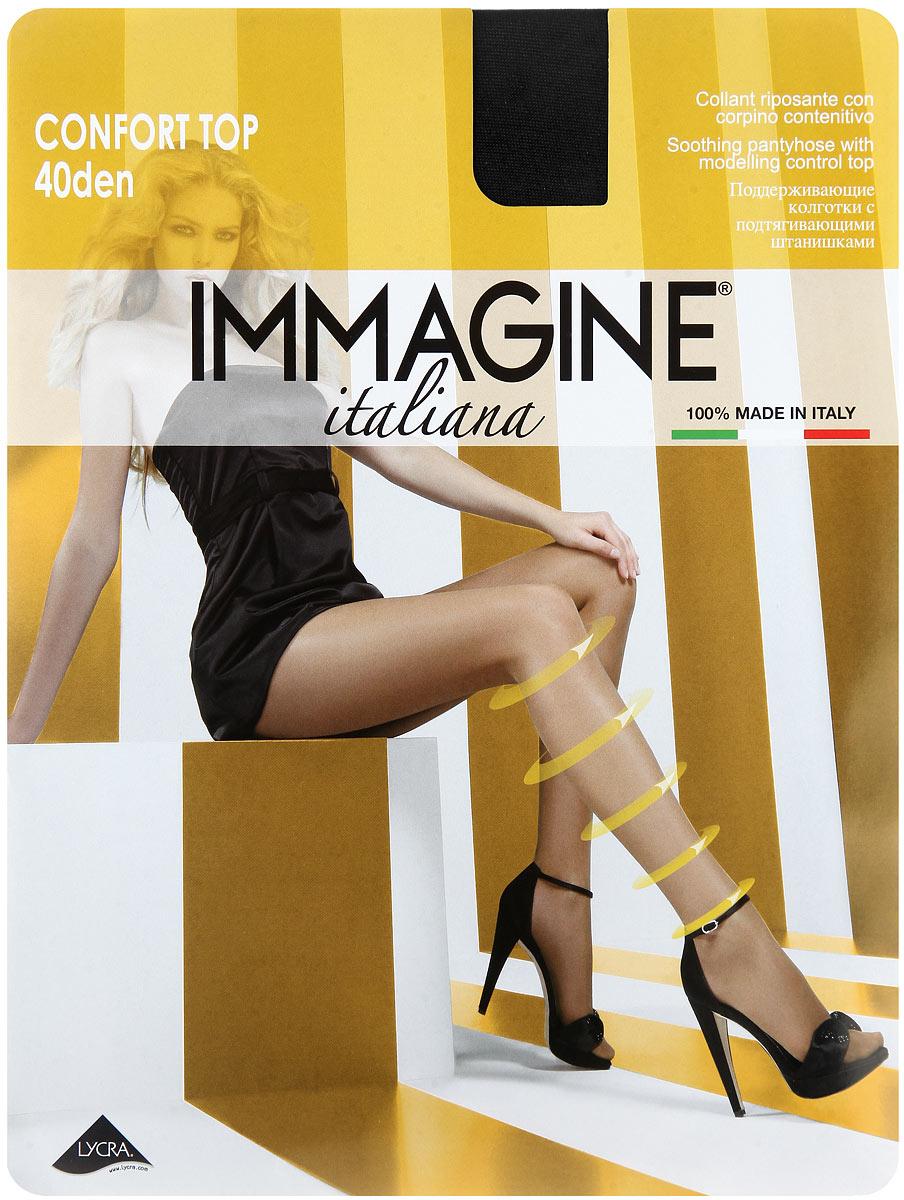 Колготки Immagine Confort Top 40, цвет: Nero (черный). Размер 3 (42/44)