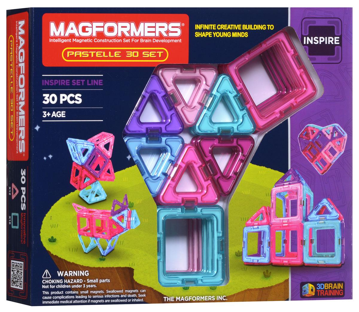 Magformers Магнитный конструктор Pastelle 30 конструкторы magformers магнитный pastelle 14 63096