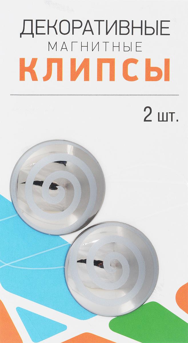 Клипсы магнитные для штор SmolTtx Гипноз, с леской, цвет: серый, длина 33,5 см, 2 шт544091_26БМагнитные клипсы SmolTtx Гипноз предназначены для придания формы шторам. Изделие представляет собой соединенные леской два элемента, на внутренней поверхности которых расположены магниты.С помощью такой клипсы можно зафиксировать портьеры, придать им требуемое положение, сделать складки симметричными или приблизить портьеры, скрепить их.Следует отметить, что такие аксессуары для штор выполняют не только практическую функцию, но также являются одной из основных деталей декора, которая придает шторам восхитительный, стильный внешний вид. Длина клипсы (с учетом лески): 33,5 см.Диаметр клипсы: 3,5 см.