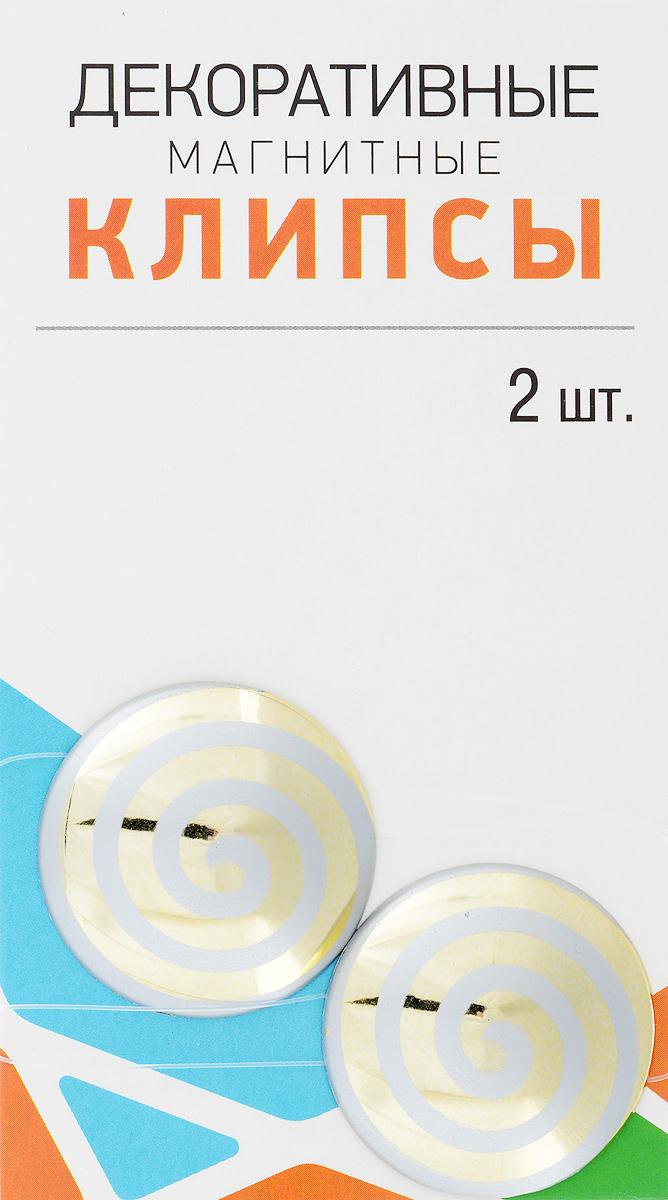 Клипсы магнитные для штор SmolTtx Гипноз, с леской, цвет: золотистый, светло-серый, длина 33,5 см, 2 шт544091_2Б3Магнитные клипсы SmolTtx Гипноз предназначены для придания формы шторам. Изделие представляет собой соединенные леской два элемента, на внутренней поверхности которых расположены магниты.С помощью такой клипсы можно зафиксировать портьеры, придать им требуемое положение, сделать складки симметричными или приблизить портьеры, скрепить их.Следует отметить, что такие аксессуары для штор выполняют не только практическую функцию, но также являются одной из основных деталей декора, которая придает шторам восхитительный, стильный внешний вид. Длина клипсы (с учетом лески): 33,5 см.Диаметр клипсы: 3,5 см.