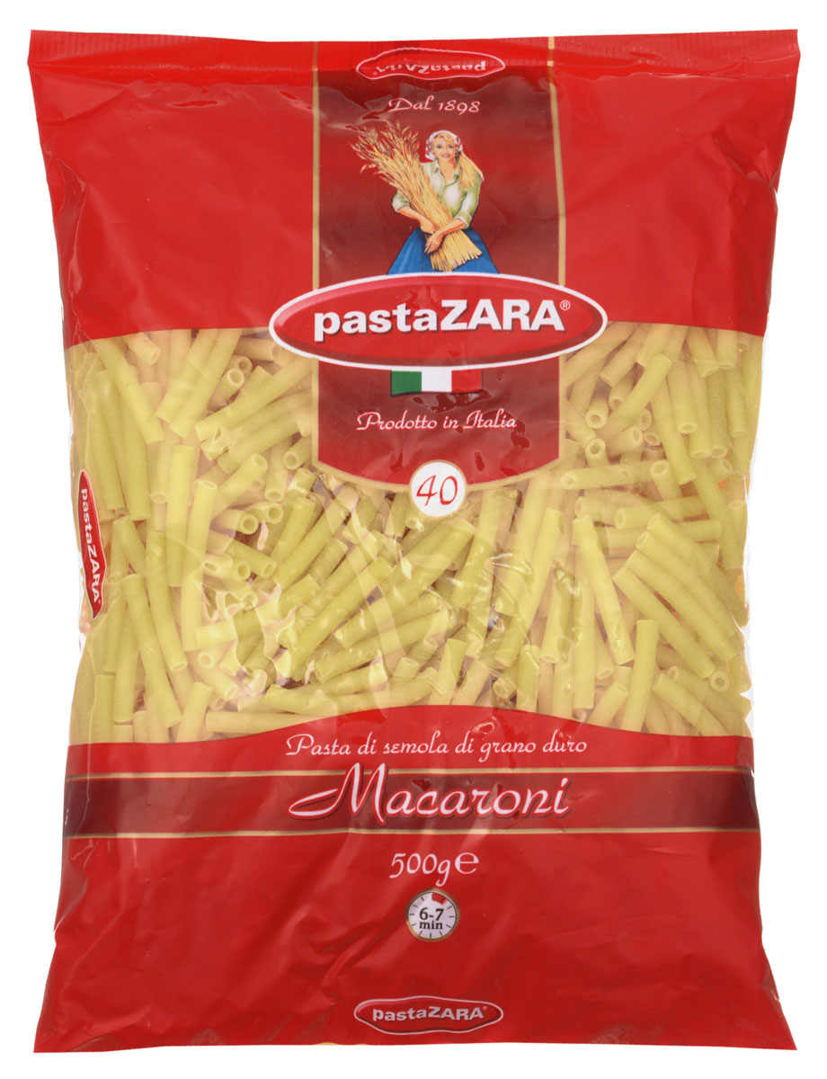 Pasta Zara Макарони макароны, 500 г мед суфле peroni honey соленая карамель 250 г