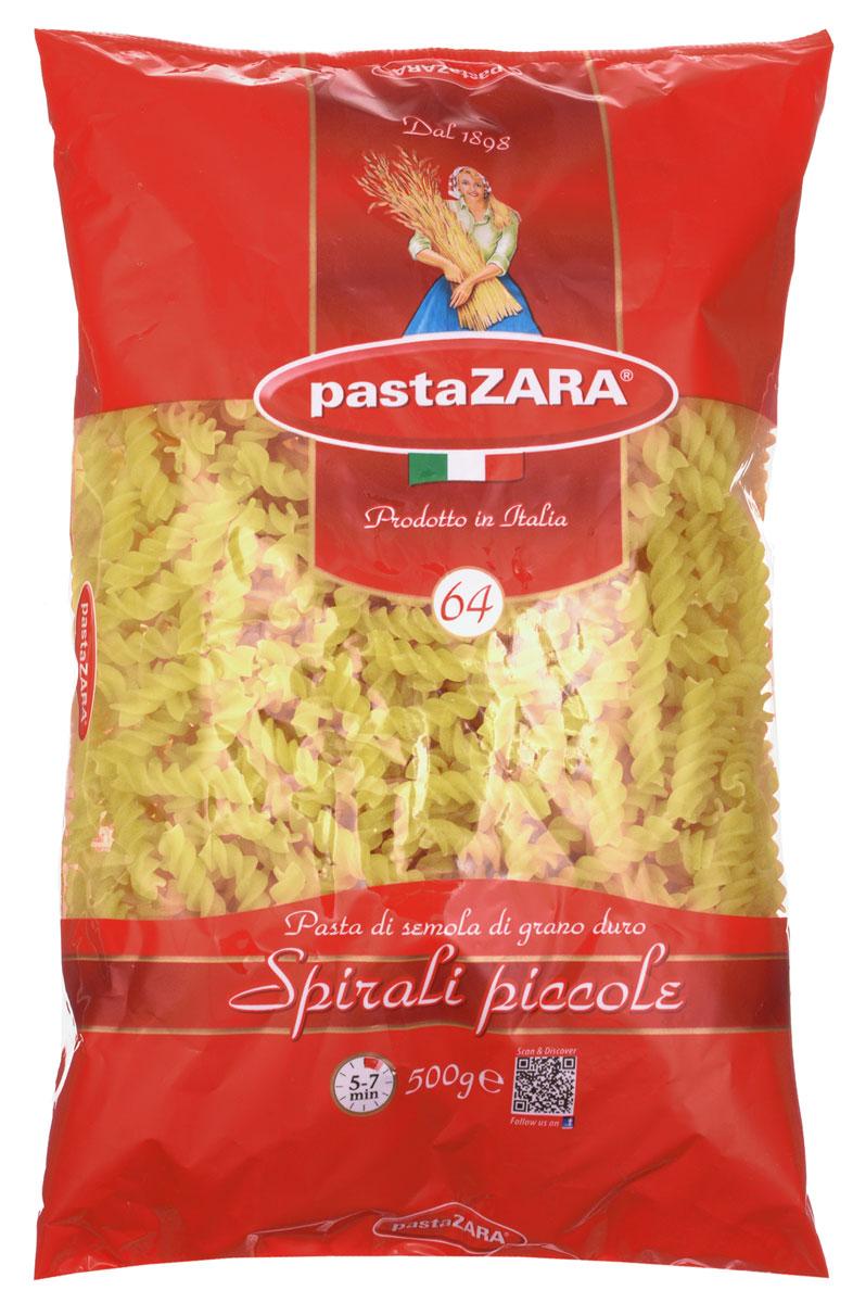 Pasta Zara Спираль мелкая макароны, 500 г8004350130648Макароны-спирали Pasta Zara 064 сочетают в себе современность технологий производства и традиционное итальянское качество. Необычная форма изделий украсит каждое ваше блюдо, а благодаря твердым сортам пшеницы, входящим в состав, они сохранят форму и не разварятся при приготовлении.