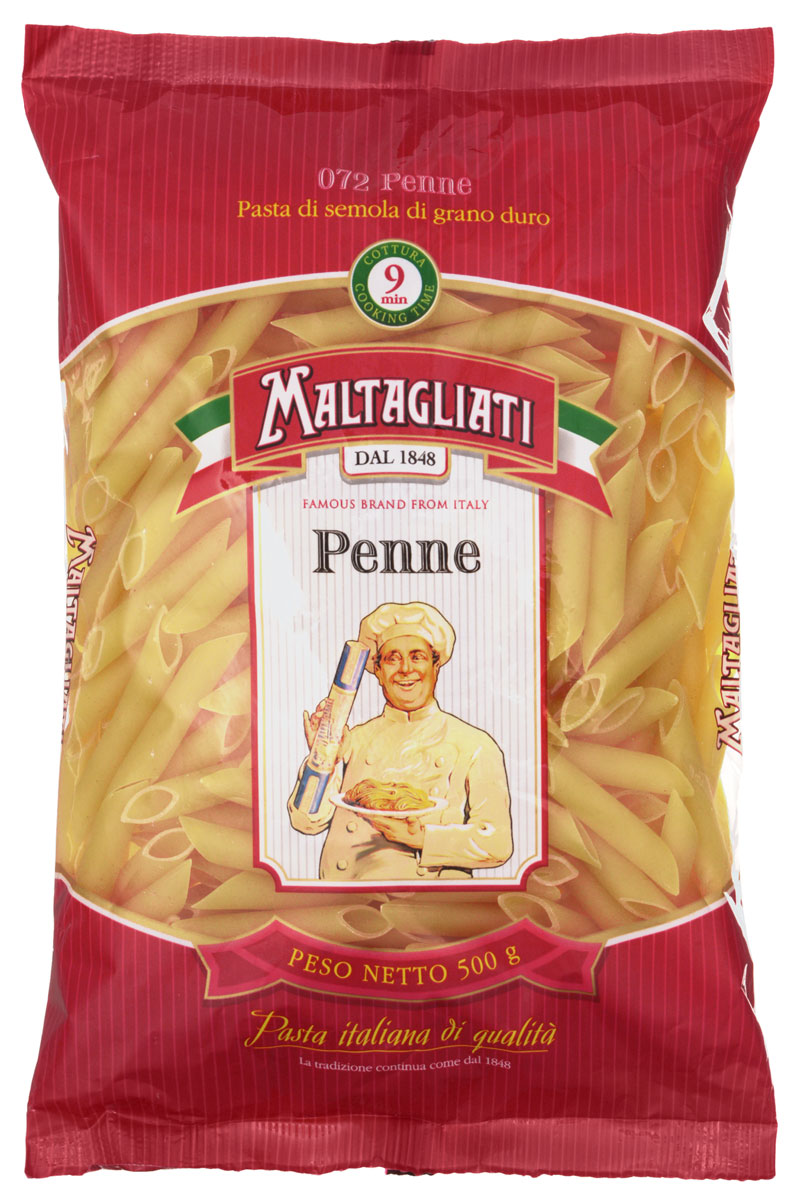 Maltagliati Penne Перья макароны, 500 г pasta zara перо гладкое макароны 500 г