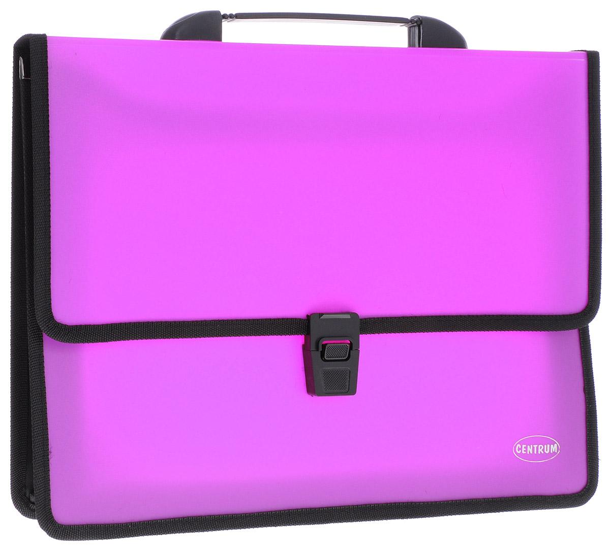 Centrum Папка-портфель 2 отделения с ручкой цвет фуксия -  Папки