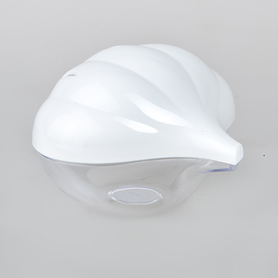 Емкость для чеснока. M853M853Емкость для чеснока (бело-прозрачный пластик формы чеснока L=100мм)