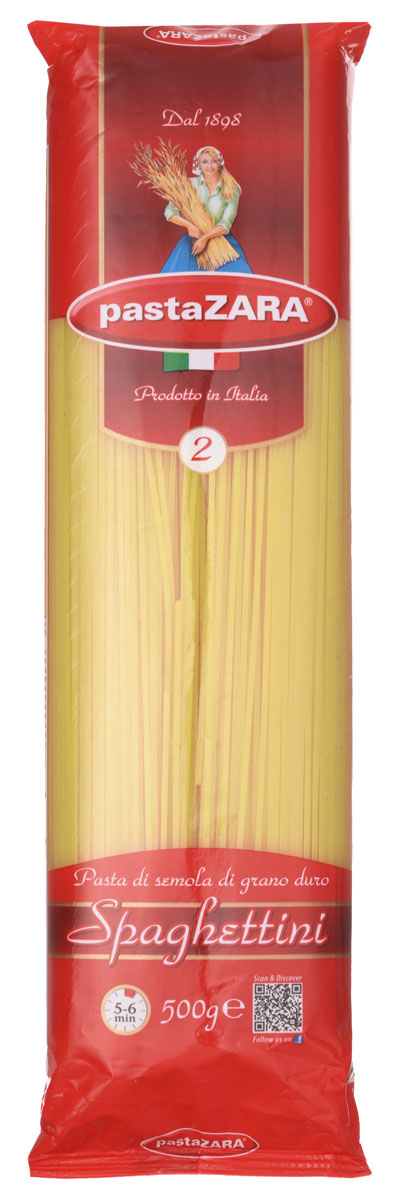 где купить Pasta Zara Спагетти спагеттини макароны, 500 г по лучшей цене