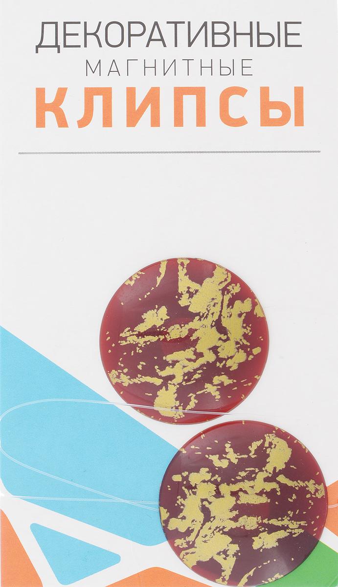 Клипсы магнитные для штор SmolTtx Размытие, с леской, цвет: бордовый, золотистый, длина 33,5 см, 2 шт544091_12И4Магнитные клипсы SmolTtx Размытие предназначены для придания формы шторам. Изделие представляет собой соединенные леской два элемента, на внутренней поверхности которых расположены магниты.С помощью такой клипсы можно зафиксировать портьеры, придать им требуемое положение, сделать складки симметричными или приблизить портьеры, скрепить их.Следует отметить, что такие аксессуары для штор выполняют не только практическую функцию, но также являются одной из основных деталей декора, которая придает шторам восхитительный, стильный внешний вид. Длина клипсы: 33,5 см. Диаметр клипсы: 3,5 см.