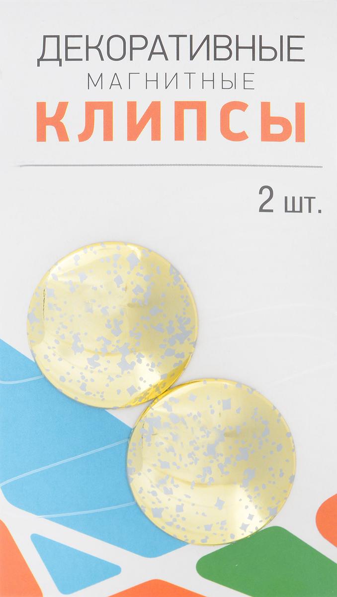 Клипсы магнитные для штор SmolTtx Пятна, с леской, цвет: золотистый, длина 33,5 см, 2 шт544091_2В3Магнитные клипсы SmolTtx Пятна предназначены для придания формы шторам. Изделие представляет собой соединенные леской два элемента, на внутренней поверхности которых расположены магниты.С помощью такой клипсы можно зафиксировать портьеры, придать им требуемое положение, сделать складки симметричными или приблизить портьеры, скрепить их.Следует отметить, что такие аксессуары для штор выполняют не только практическую функцию, но также являются одной из основных деталей декора, которая придает шторам восхитительный, стильный внешний вид. Длина клипсы (с учетом лески): 33,5 см.Диаметр клипсы: 3,5 см.