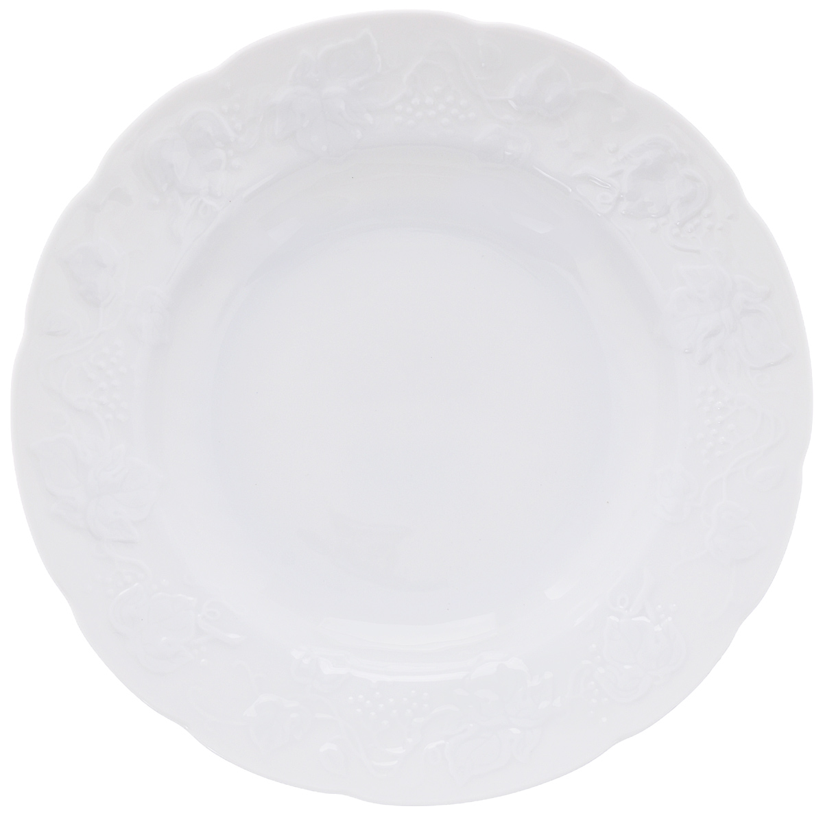 Тарелка десертная Yves De La Rosiere Vendanges, цвет: белый, диаметр 21 см690121Тарелка Yves De La Rosiere Vendanges, выполненная из высококачественного фарфора, декорирована рельефным изображением цветов. Изящный дизайн придется по вкусу и ценителям классики, и тем, кто предпочитает утонченность. Тарелка Yves De La Rosiere Vendanges идеально подойдет для сервировки стола и станет отличным подарком к любому празднику.Диаметр тарелки (по верхнему краю): 21 см.